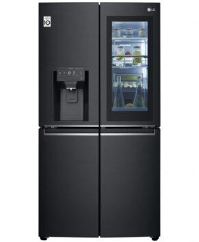 LG 910L French Door Fridge with InstaView Door-In-Door - Matte Black GF-V910MBL
