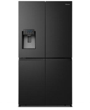Hisense 650L PureFlat Quad-Door French Door Fridge - Black Steel HRCD650BW