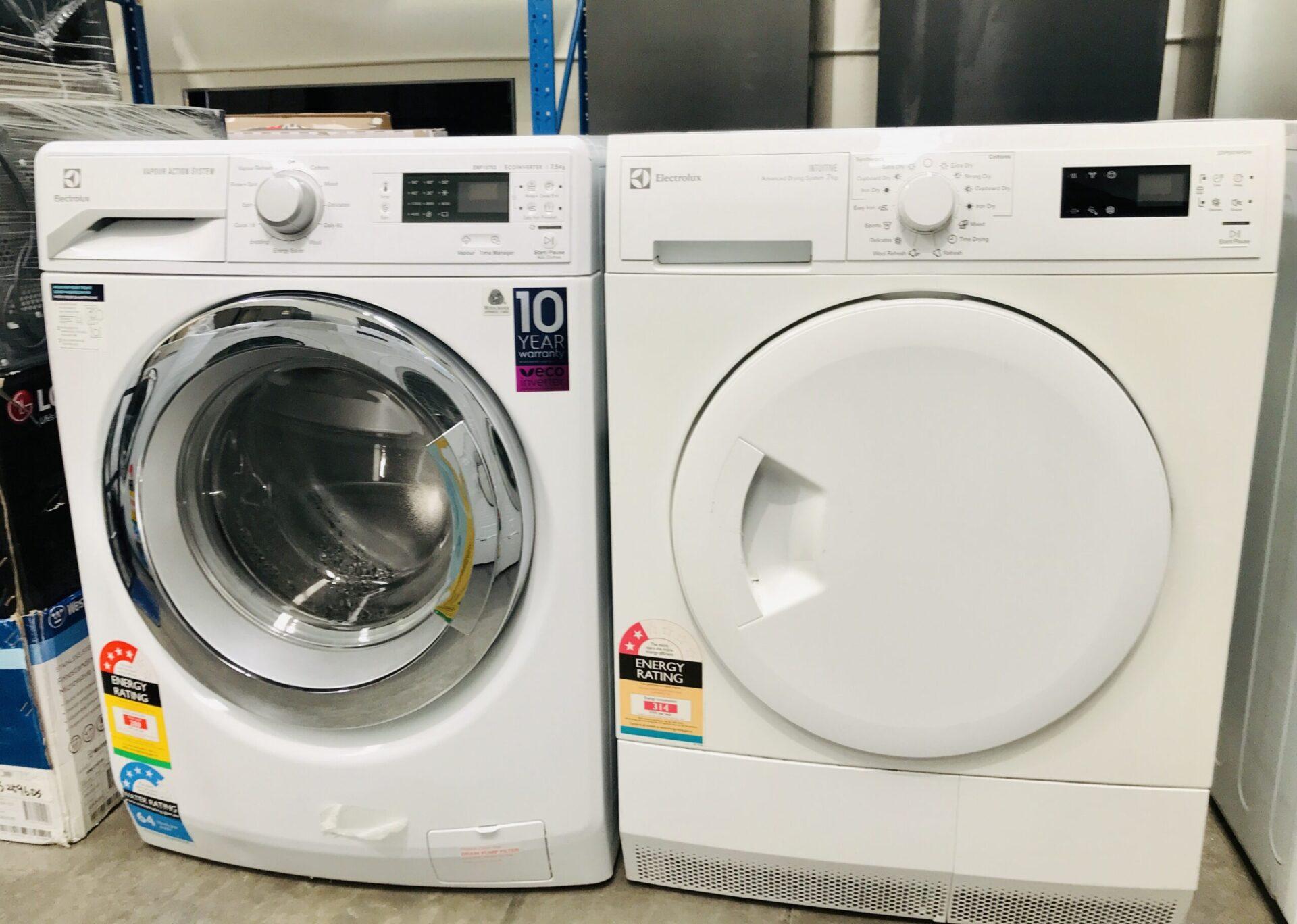 Electrolux 8KG Front load wash & Electrolux 7KG condenser dryer EWF12753 EDP2074PDW