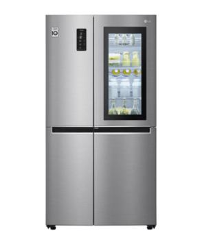 LG  682L Side by Side Door-In-Door® Insta View Fridge (Stainless Steel) GS-VB680PL