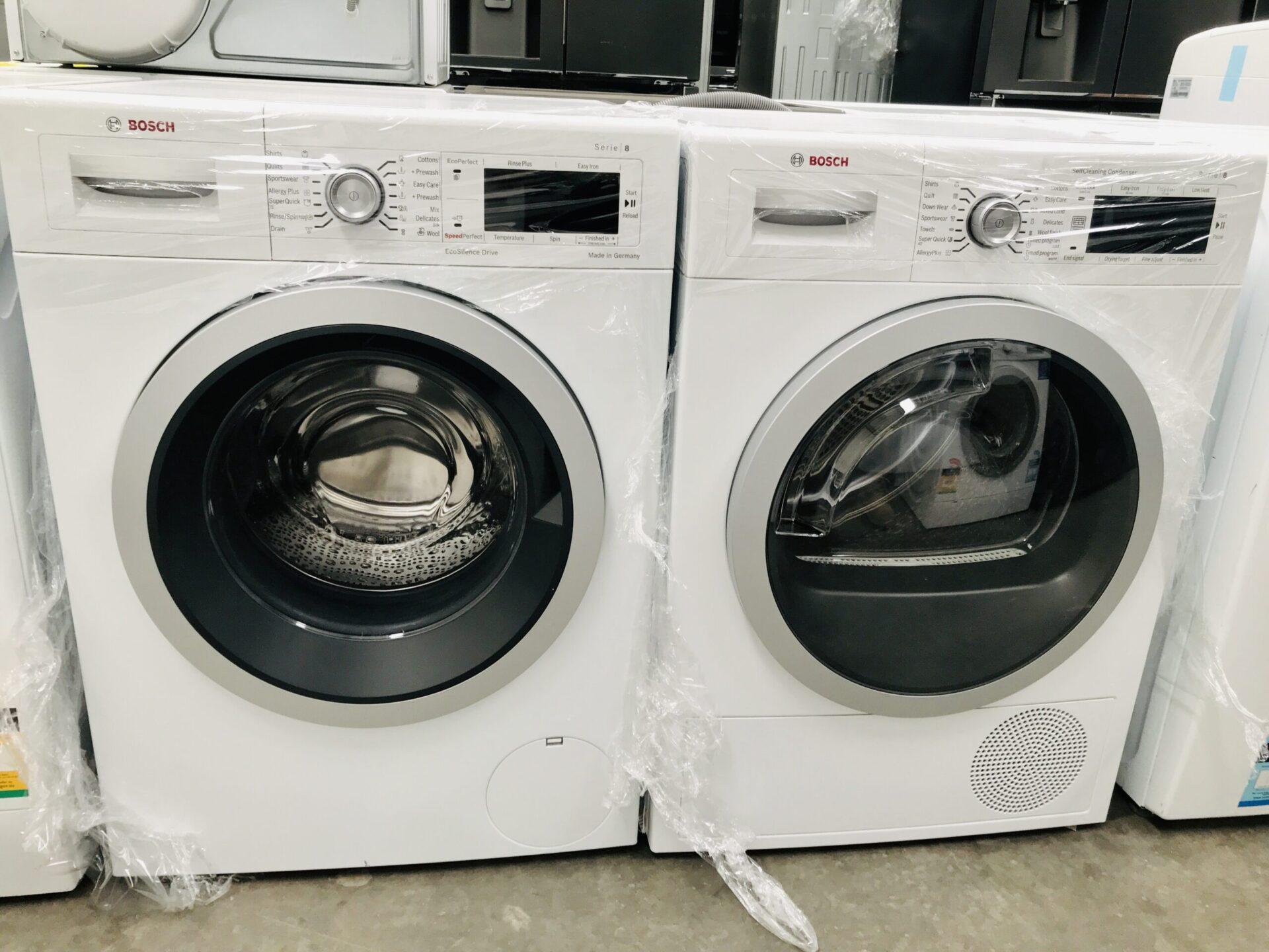 Bosch 8KG  Serie 8  Washing Machine  & Bosch Serie 8 9kg Heat Pump Dryer WAW28460AU  WTW87565AU( German Made)