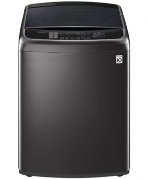 LG 14kg Top Load Washing Machine with TurboClean3D - Black Stainless Steel WTG1434BHF