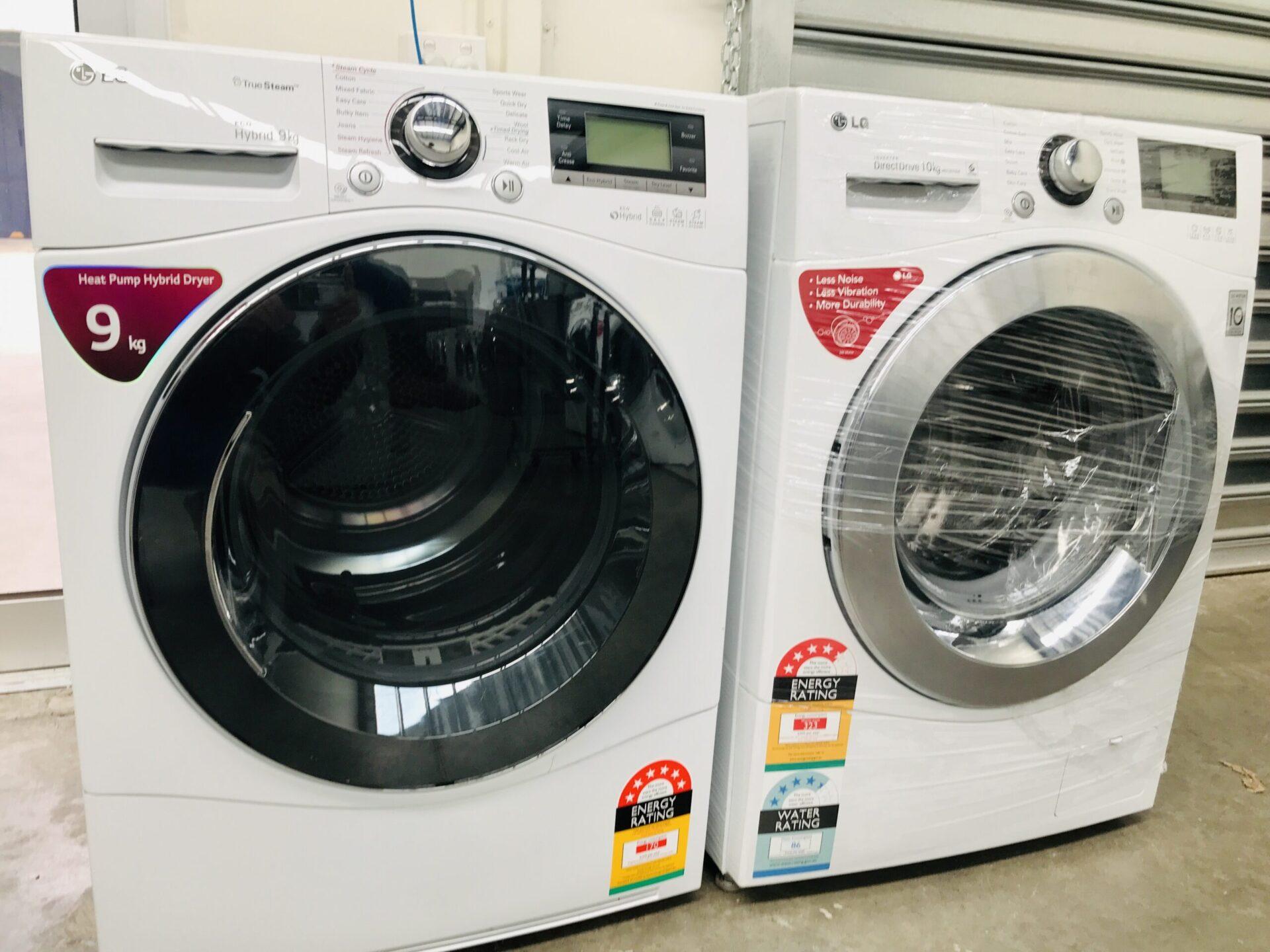 LG 10kg Front Load LG Washing Machine & LG  9kg Heat Pump Hybrid Dryer WD14070D6 TD-C902H